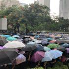 Tensa calma se adueña del sábado de Hong Kong