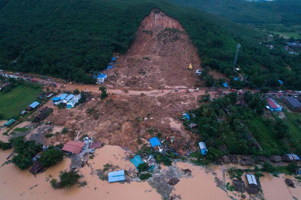 Las lluvias siguen aumentando las cifras fatales en Birmania