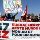 La izquierda se expresó contra el cónclave francés del G7