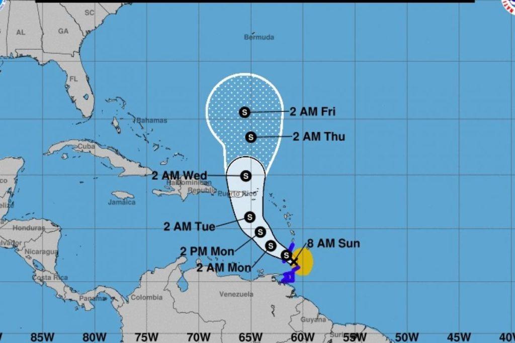 La tormenta tropical Karen azotará hoy el territorio venezolano