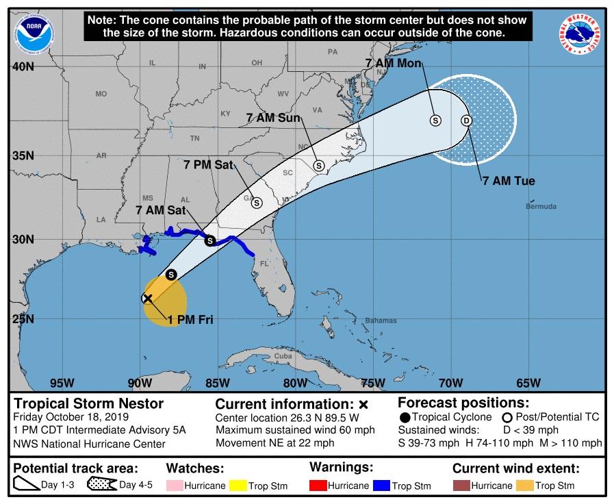 Néstor sopla violentamente frente al noroeste de Florida