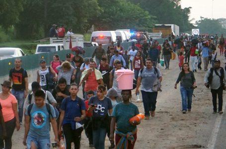Migrantes impulsan caravana hacia la frontera mexico-estadounidense / Foto: Cortesía