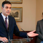 Sánchez insta al apoyo interno para su acuerdo con Podemos