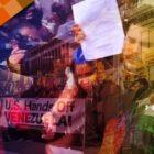 Lección de un soldado venezolano a un estudiante