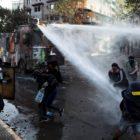 La brutal represión policial dejó sus estragos en Santiago