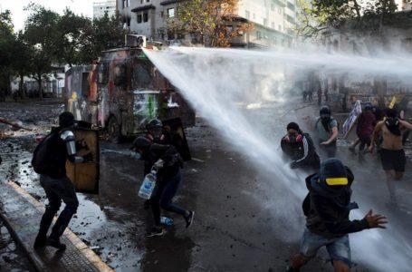 La brutal represión policial dejó sus estragos en Santiago / Foto: Cortesía
