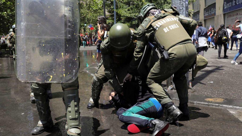 Protesta social en Chile ha encarado la represión durante tres meses
