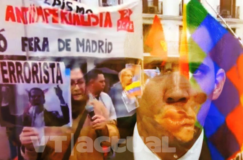 Madrileños rechazaron la presencia de Juan Guaidó en la capital española