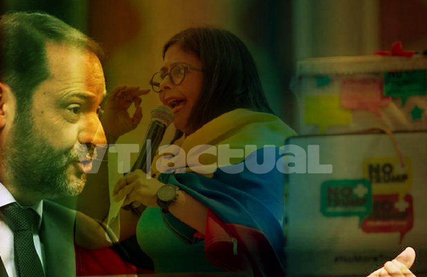 Delcy Rodríguez revela la doble moral de la Derecha española