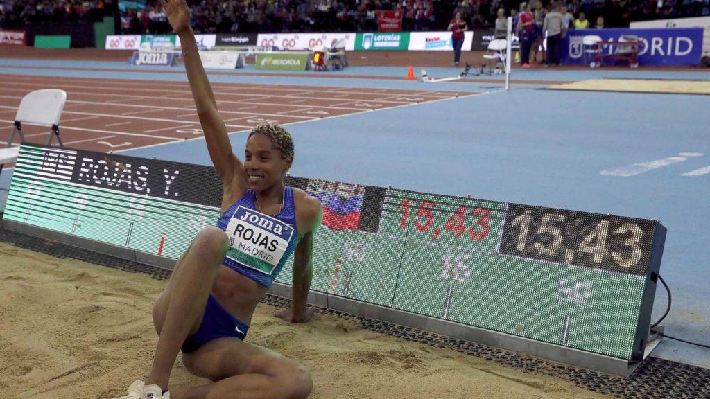 Venezolana Yulimar Rojas impuso marca universal en salto triple