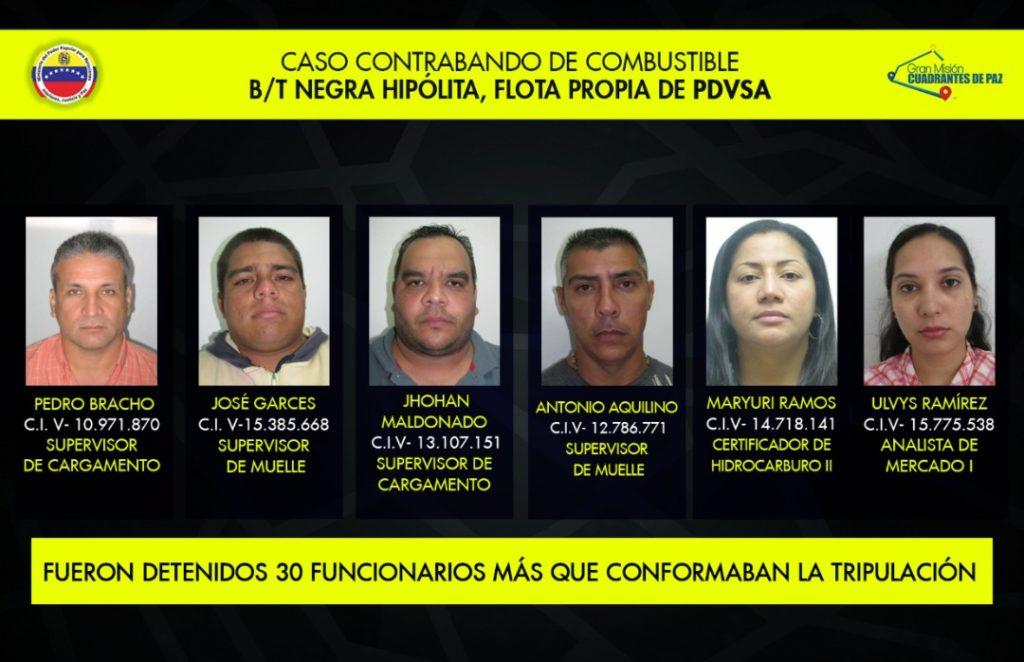 Detenidos funcionarios venezolanos que vendieron datos clasificados de Pdvsa