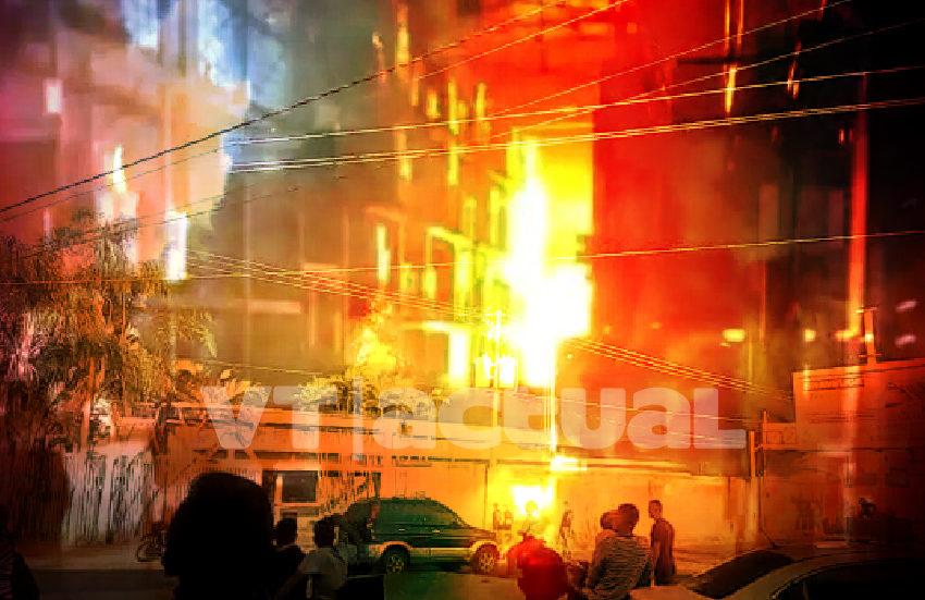 Reportan incendio en galpón del Poder Electoral venezolano al este de Caracas