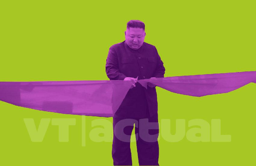 Ni muerto ni enfermo reapareció Kim Jong-un en un acto de gobierno cerca de Pionyang