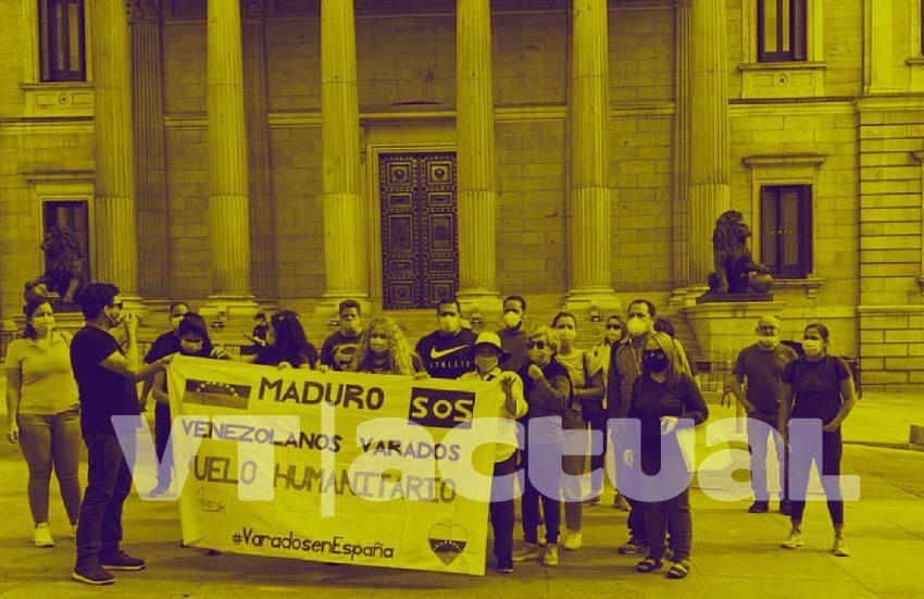 Venezolanos varados en España claman por vuelo humanitario