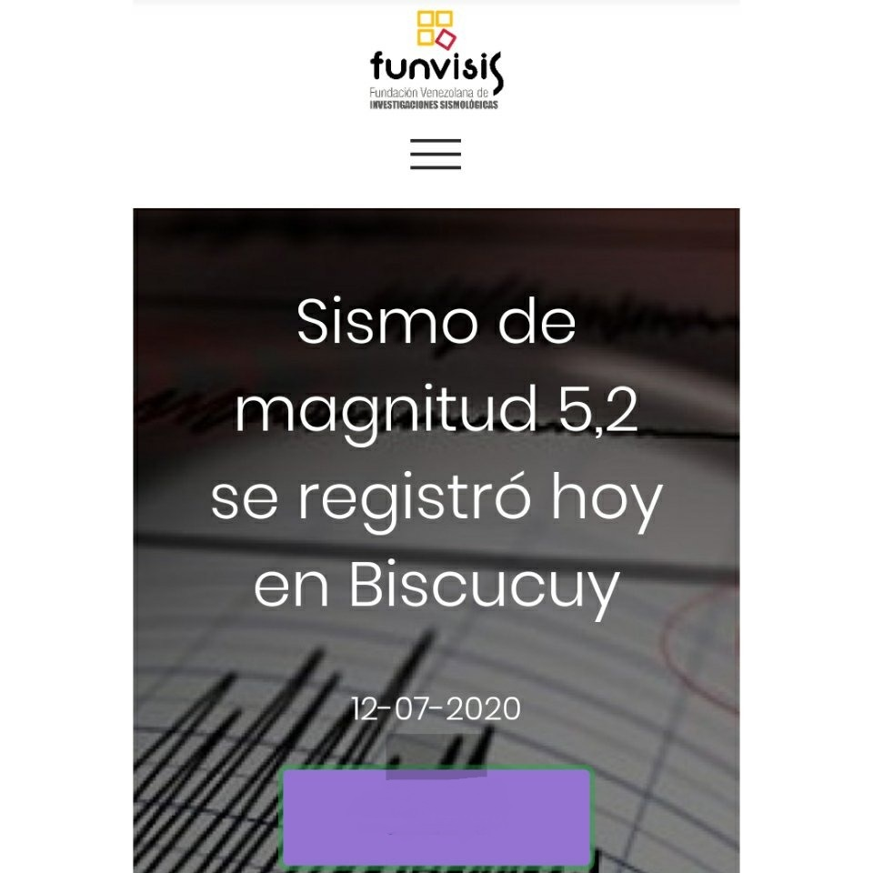 #LoÚltimo: Sismo de 5.2 de magnitud se registró este domingo al occidente venezolano