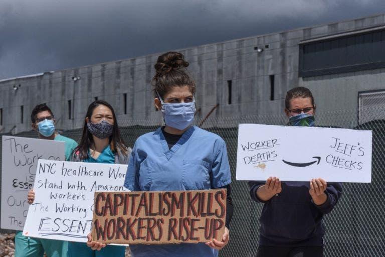 Protestas contra Jeff Bezos