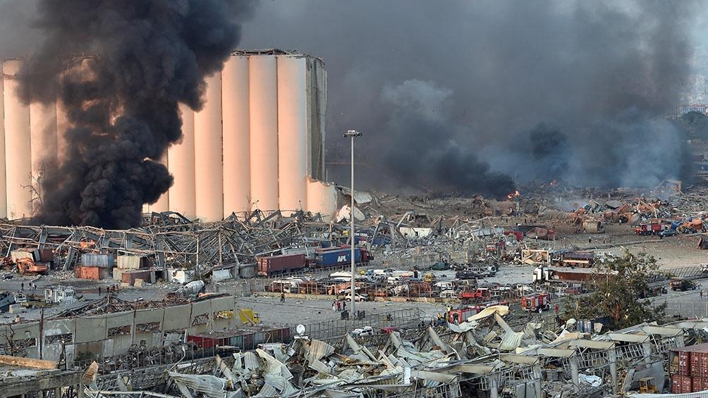 El fuego acabó con la mitad de Beirut