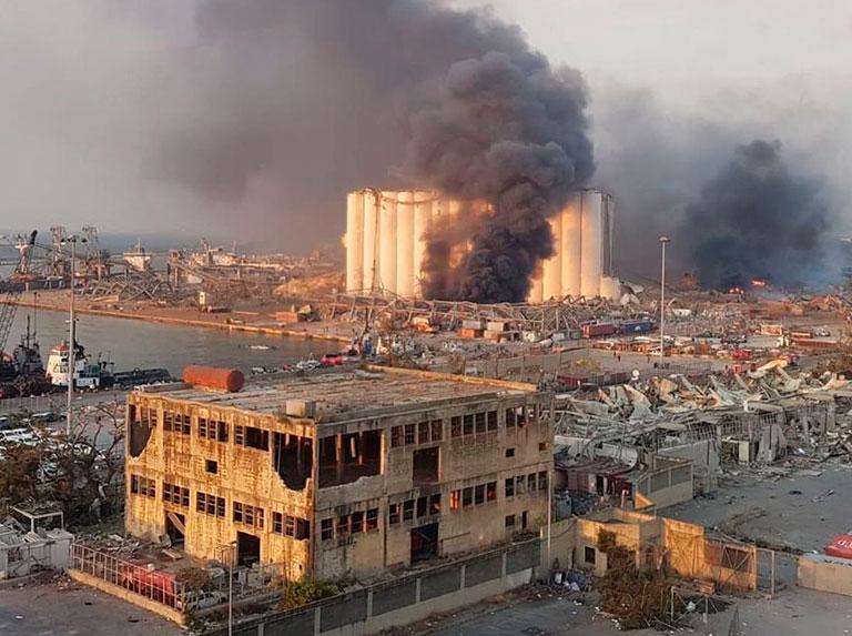 La mitad de la ciudad de Beirut se vio afectada